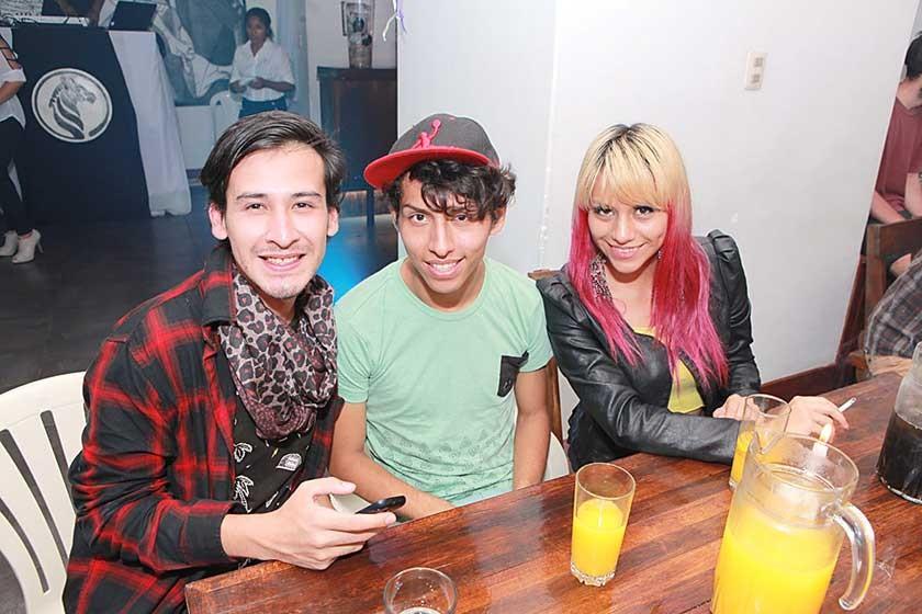 David Amado, Emilio Ramírez y Zuynnee Arandia.