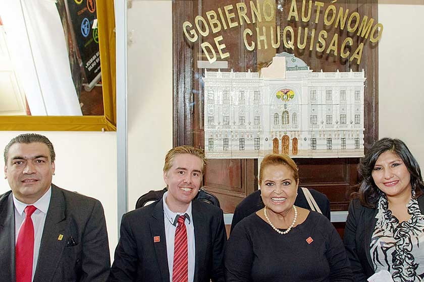 Rafael Rodríguez, Cyrill Loteci, Gloria Suárez de Limpias y Maritza Blanco.