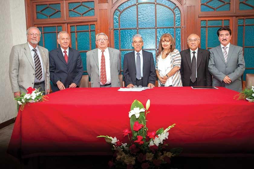 Freddy Echevarría, Carlos Pacheco, Zacarías Crespo, Gonzalo Villafani, María Eugenia López, Pedro Ledezma y José Pérez C