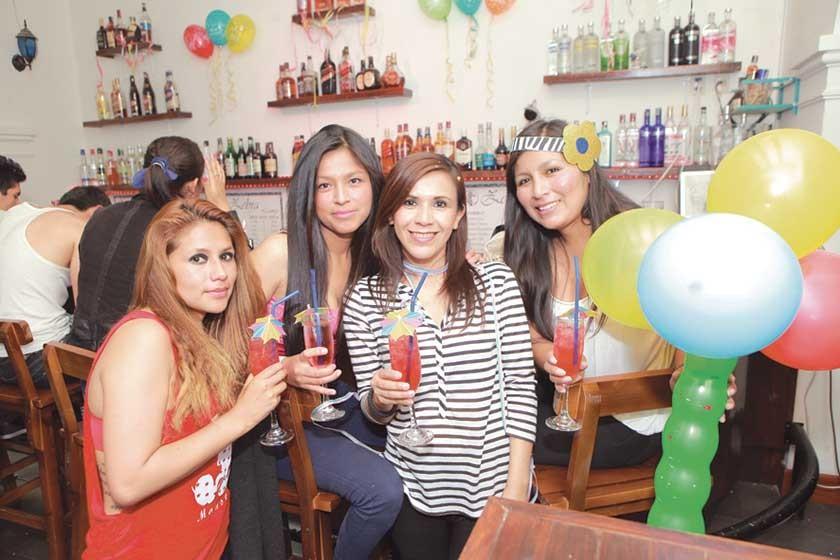 Marcela Ortiz, Mariela Oña, Elva Sánchez y Zenobia Esposo.