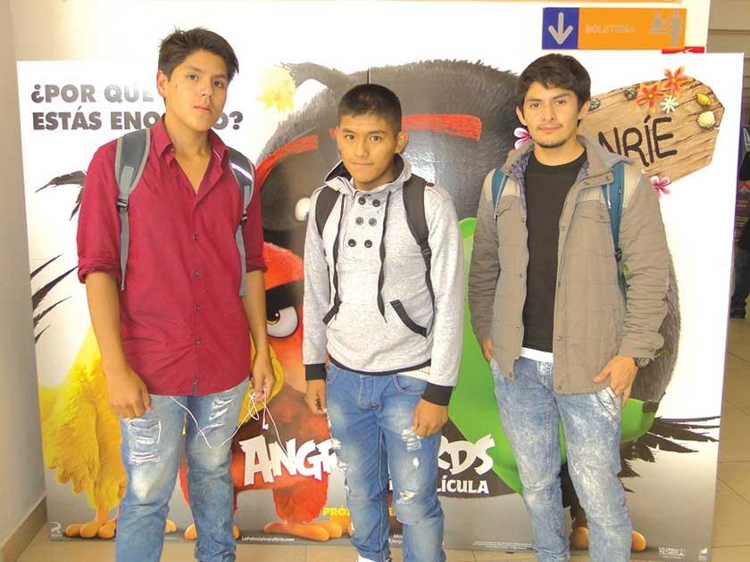 Raúl Vargas, Ángel Rocabado y Alain Tito