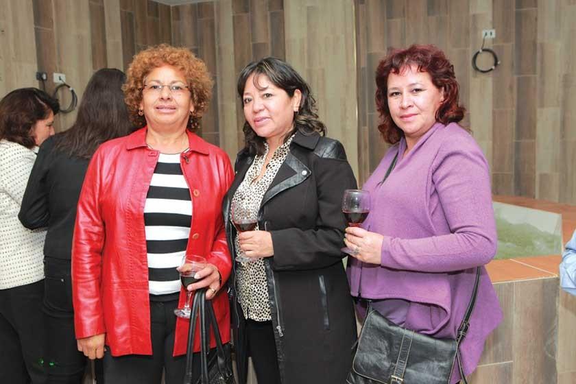 Nancy Martínez, Verónica Berrios y Militza Sardán.