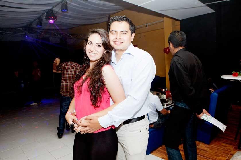 Gaby Lima y Jorge Calizaya.