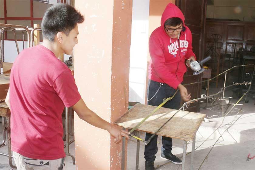 TALLERES. El Colegio Junín y el San Juanillo tienen la infraestructura para formar en materias técnicas