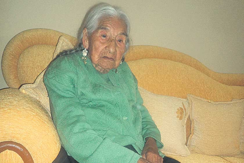 Sucrense trabajó desde los diez años y está a días de cumplir cien