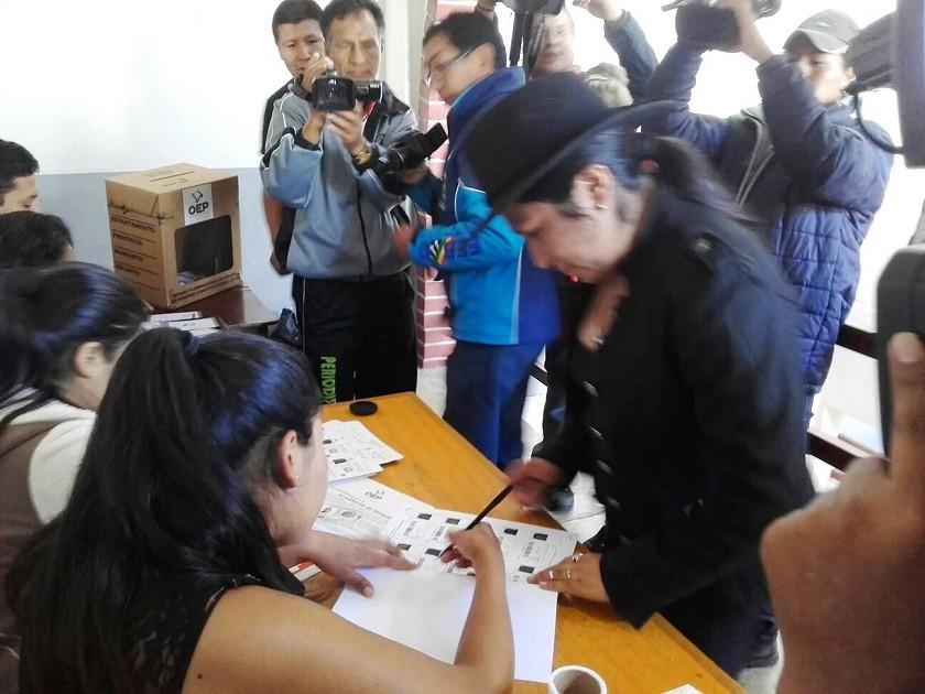La ministra de Comunicación, Marianela Paco. Foto: CORREO DEL SUR