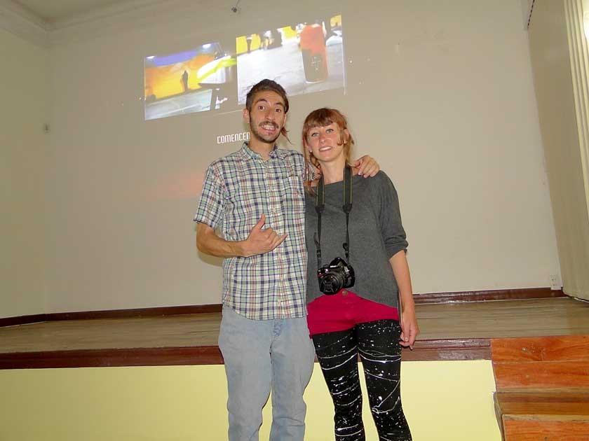 Daniel Moreno Catalano y Coralie Leclech.