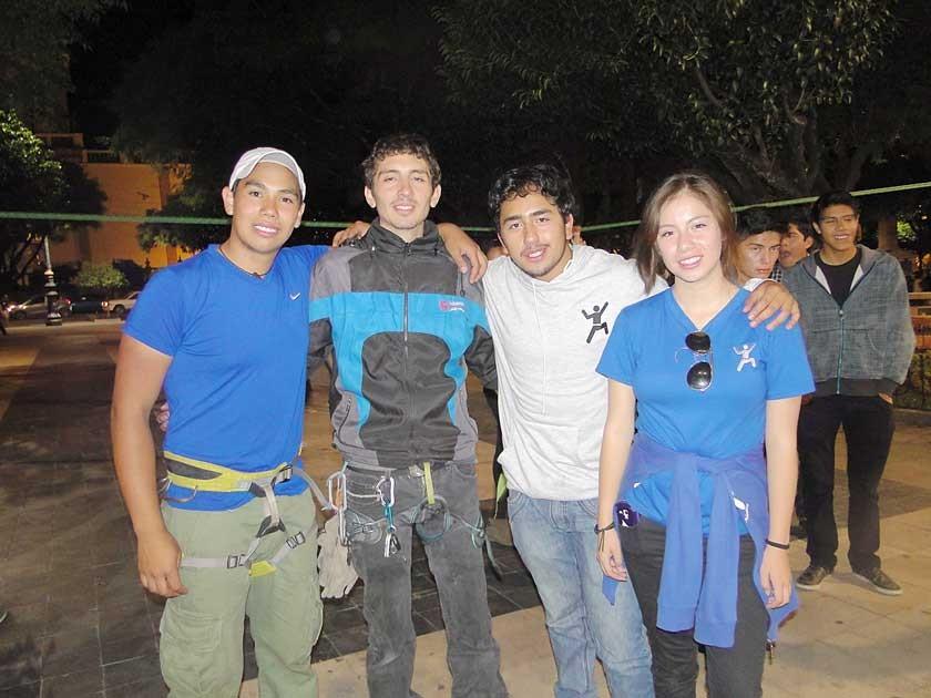 Javier Taboada, Carlos Asebey, Sergio Paz y Anthonela Paz.