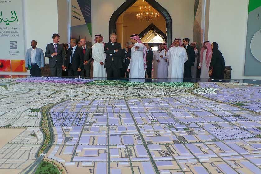 La presentación de la ciudad económica de Kaec.