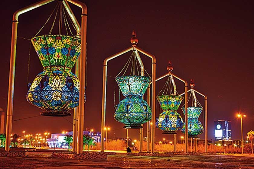 Lámparas del alumbrado público Jeddah.