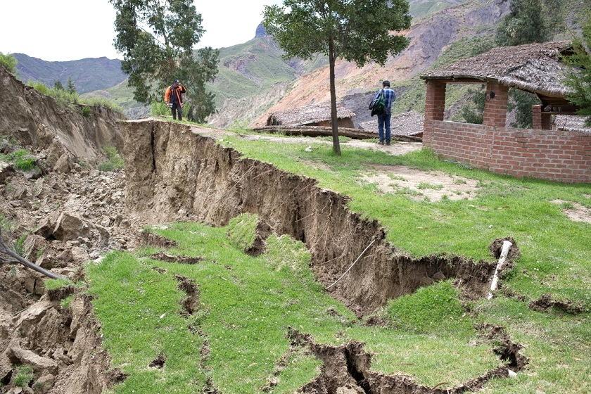 El deslizamiento en Jupapina afectó a varias viviendas en La Paz. Foto: AFKA
