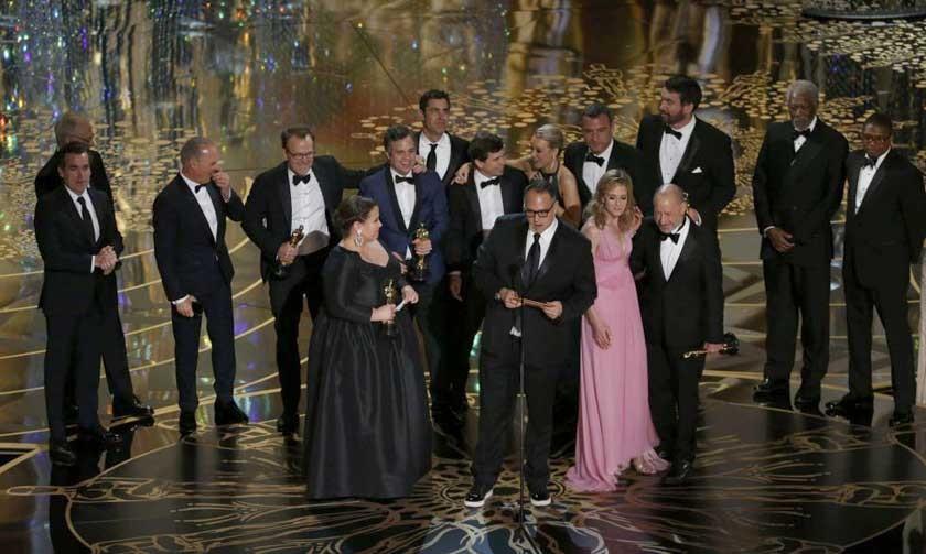 """Spotlight"" gana Oscar a mejor película"