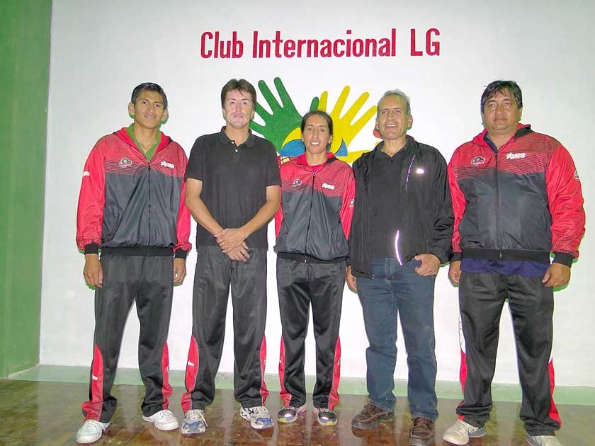 Instructores Club Dínamo: Andrés Nina, Ricardo López, Amalia Calvo, Luís Calvo y Rafael Calvo.