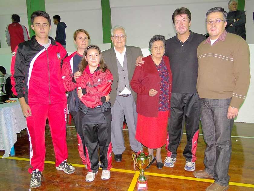 Ricardo, López, Sandra García, Camila López, Benjamín López, Ruth Dávalos, Ricardo López y Freddy López.