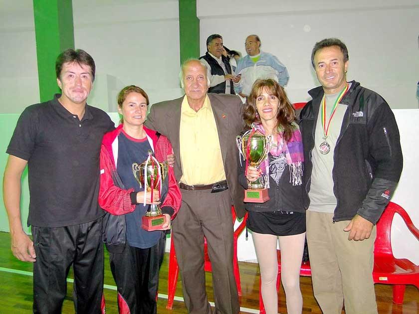 Ricardo López, Sandra García, Rafael Calvo, Paula Schugair y Hasan Tawafsha.