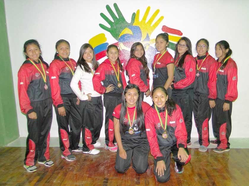 Equipo infantil femenino.