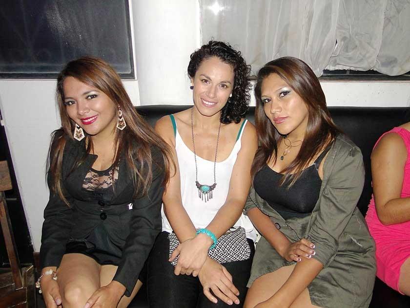 Paola Valda, Jael Pacheco y Vaneza Michel.