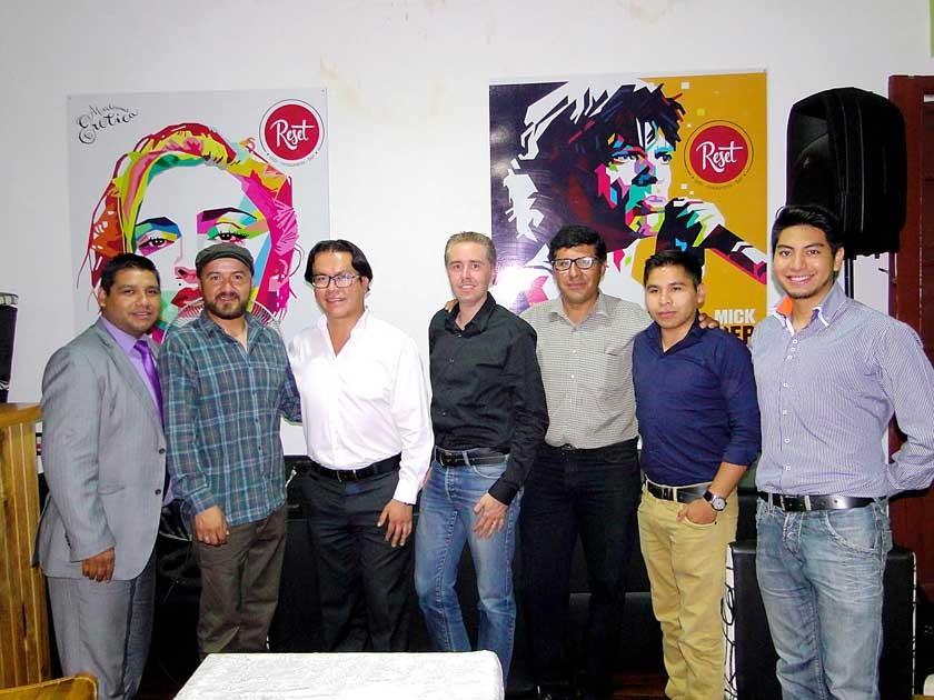 Víctor Menacho, Luis Daza, Luis Barrios, Cyril Lottici,  Nelson Barrios, Rodrigo Martínez y Daniel Candia.