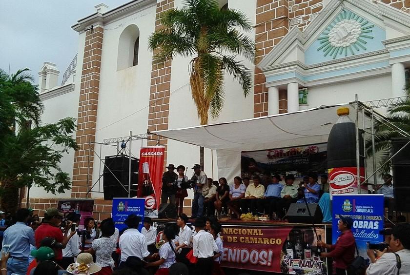 Fue inaugurada la décima versión de la FENAVIT en Camargo. Foto: Luis Alberto Guevara