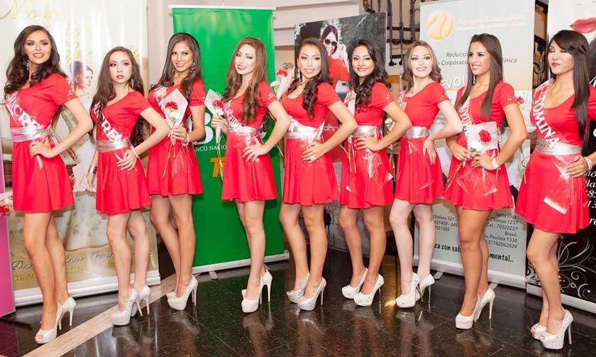 Candidatas: Camila Andrade Hoss (Sucre), Nicole Vildoso Rojas (Sucre), Paola Iraola Ruiz (Sucre), Marcela García T...