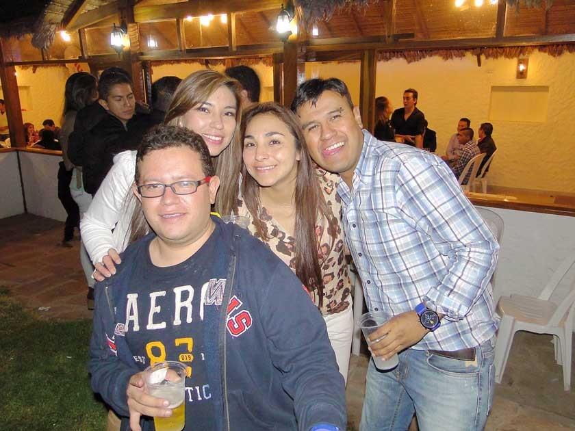 Carlos Salcedo, Jhuvinka Collazos, Pamela Dávila e Iber Gallo.
