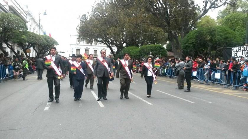 Autoridades del Concejo Municipal de Sucre. Foto: Dayana Martínez