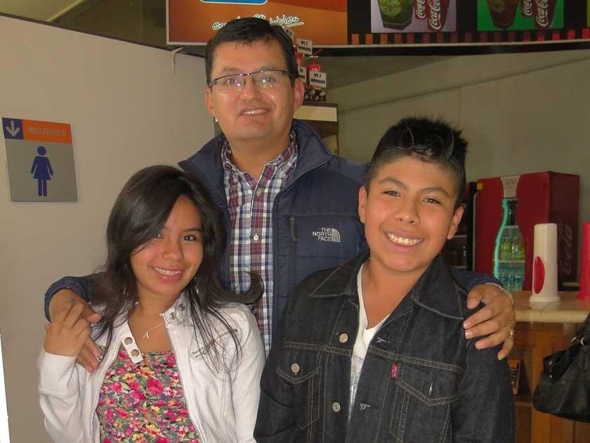 Adriana Peñaranda, Vladimir Chumacero y Jorge Delgadillo.