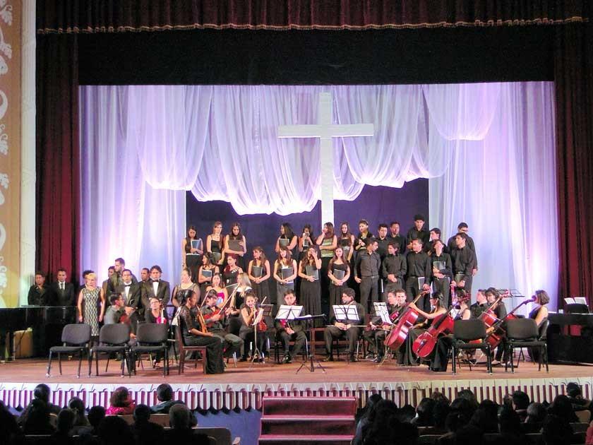 """Coro y Orquesta FIMBLAP """"El Mesías""""."""