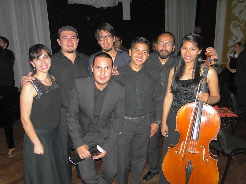 Andrea García, Juan Portal, Andrés Fernández, Arpad Debreczeni, Guery Ticona, Juan Víctor Díaz y Karen Gil.