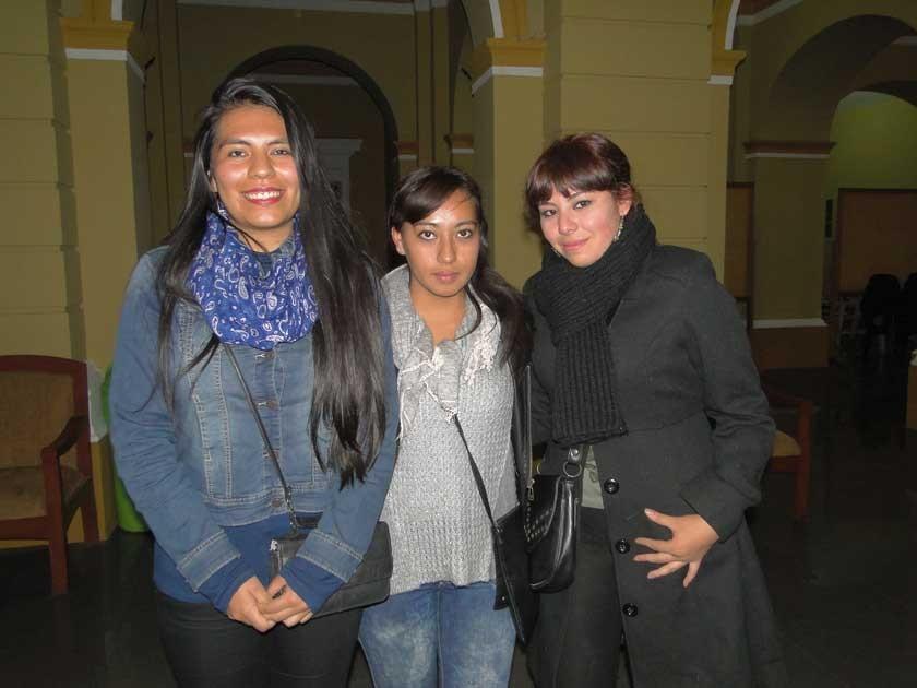 Vanessa Prieto, Anahí Vargas y Valeria Flores.