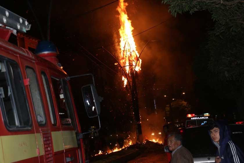 Rayo destruye árbol y alarma a vecinos