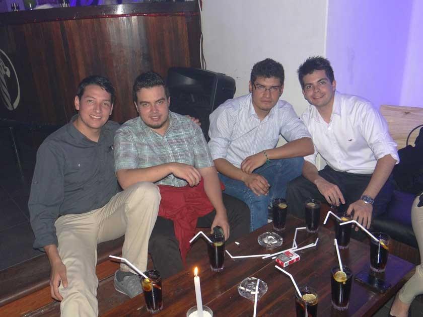 Rodrigo Durán, Álvaro Clavijo, Rodrigo Urquizu y Andrés Montellano.