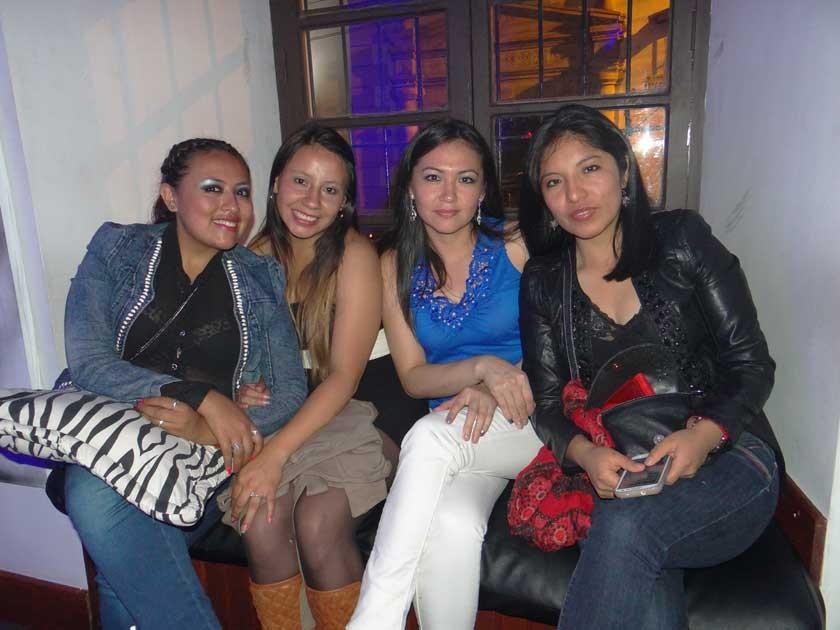 Marisabel Alandia, Jenny Cuellar, Dimelsa Vaquera  y Cecilia Rosales.