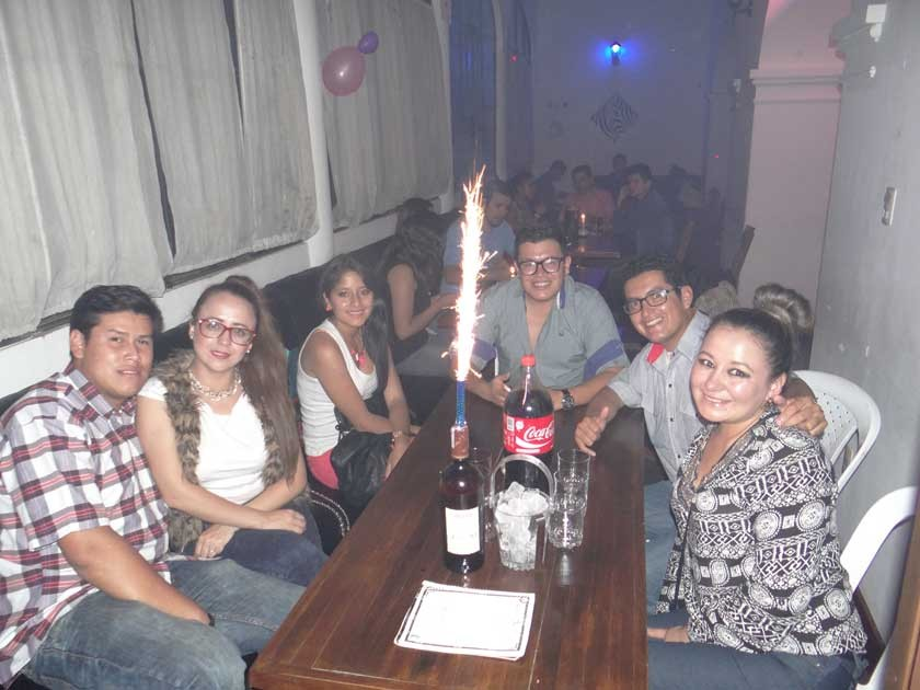 Carlos, Rosangela, Daniela, Wilson, Cesar y Dayna.