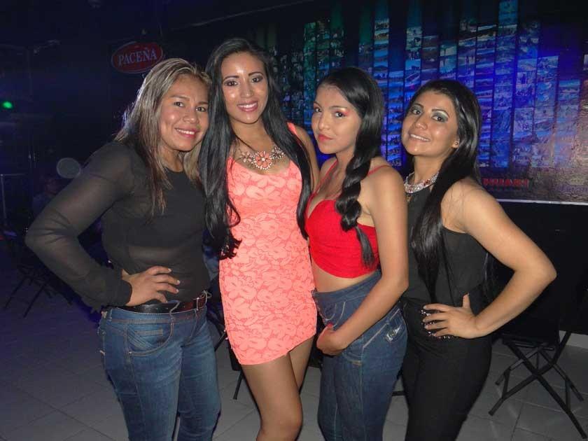 Sara Mopi, Viviana Sambrana, Fabiana Lemys y Roseli Contreras.