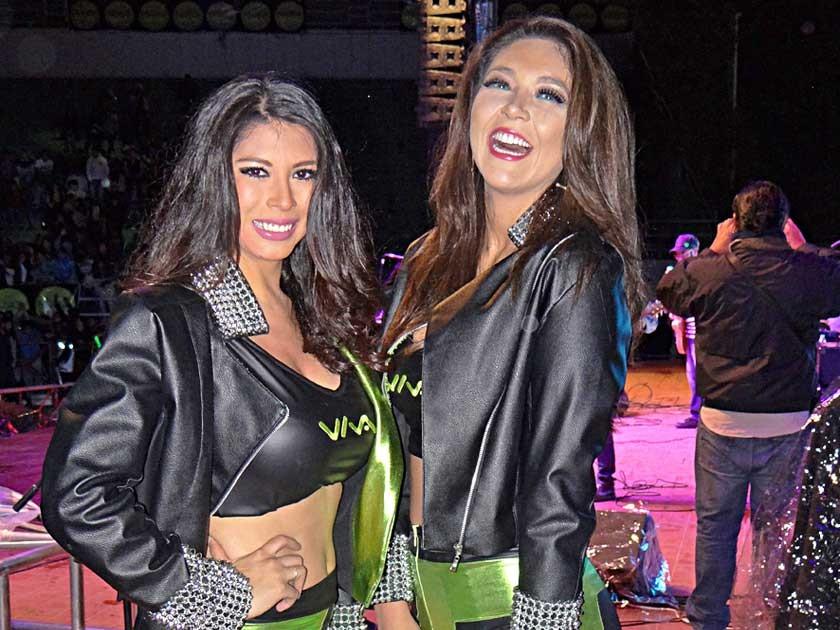 Paola Maita y Adriana Delgadillo.