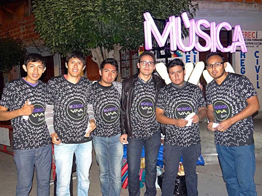 Jared Flores, Freddy Pallares, Giancarlo Calderón, Yussef Vladislavic, Julio César Nava y Alejandro Sierra.
