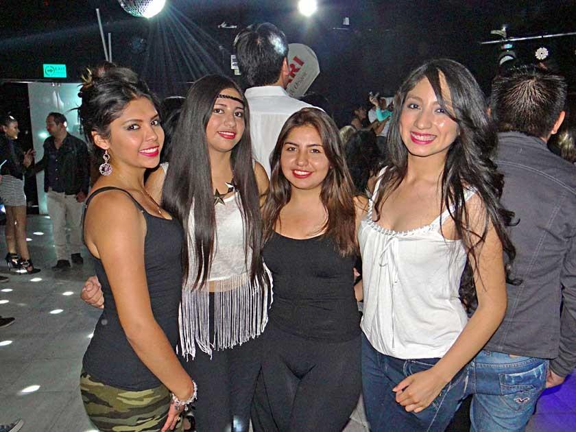 Tamara Llave, Ayelén Suyo, Gilka Delgadillo y Rebeca Gómez.