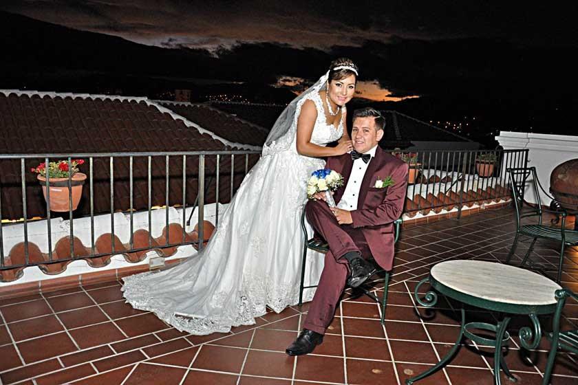 Novios: Mario Torres Canedo y Mayda López Torres.