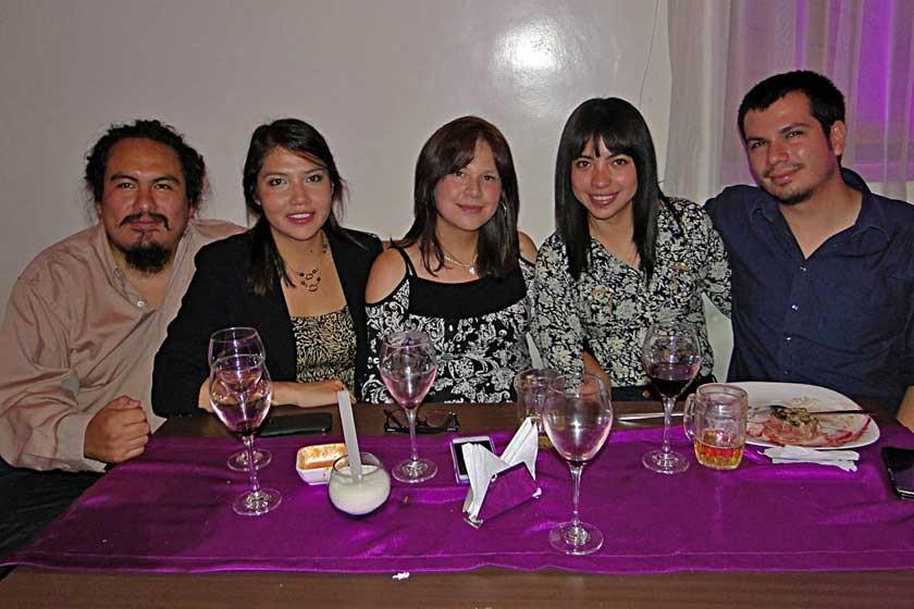 Mario Ávalos, Claudia Raful, Fabiola Raful, Gabriela Gamarra y Benjamín Vargas.