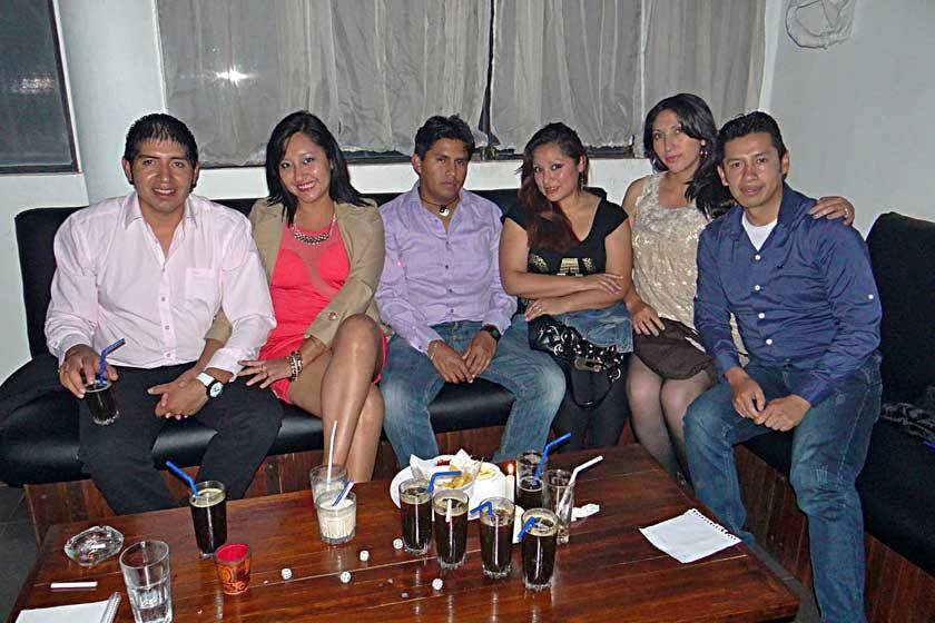 Roberto, Valeria, Dennis, Leonore, Maritzabel y Gilmar.
