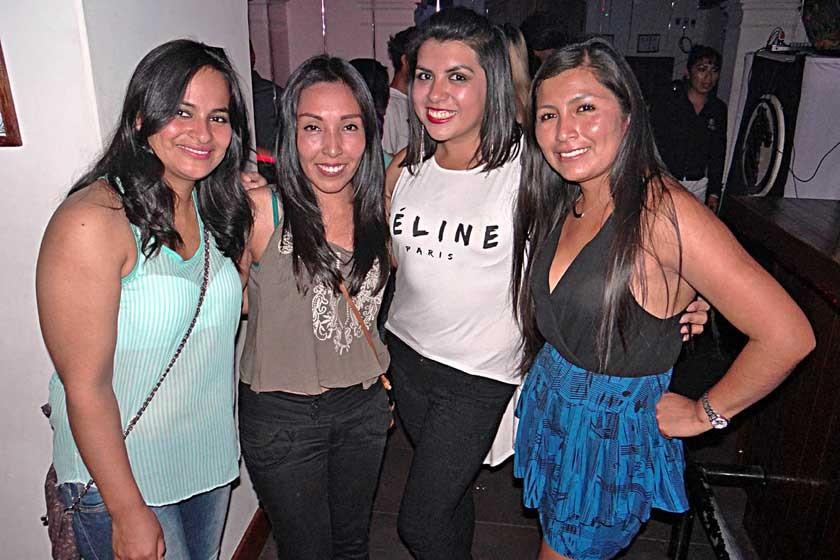 Verónica, Gabriela, Ariana y Zenobia..