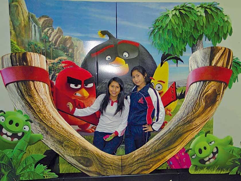Madelen Castillo y Lidia Saavedra.