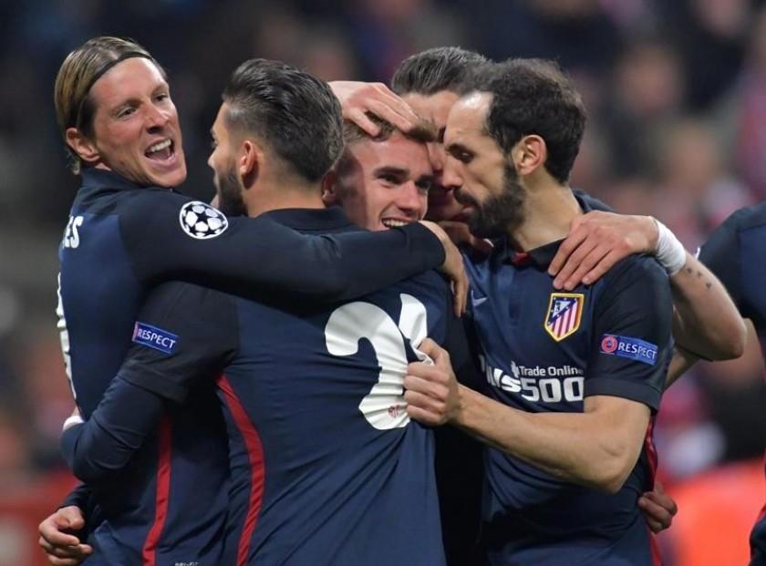 La celebración del gol clave del Atlético. Foto: EFE