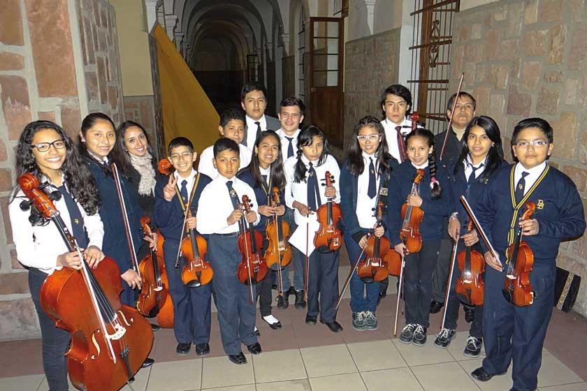 Escuela de cuerdas del colegio Don Bosco.