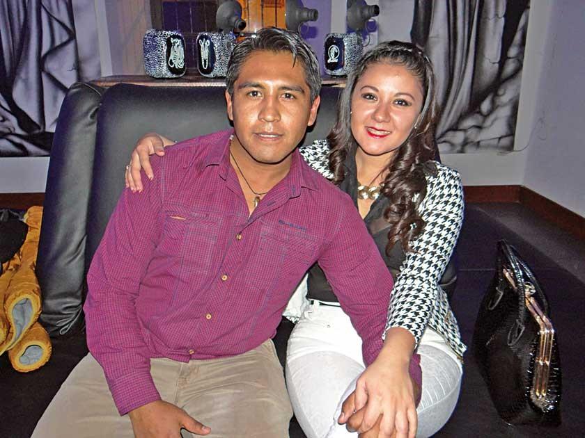 Rubén Loayza y María René Cuadros.