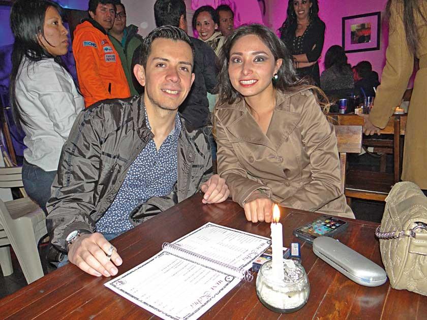 Mauricio Rentería y Carla Vallejos.