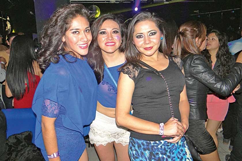 Ana Galia Gonzales, Fernanda Mendieta y Homaira García.