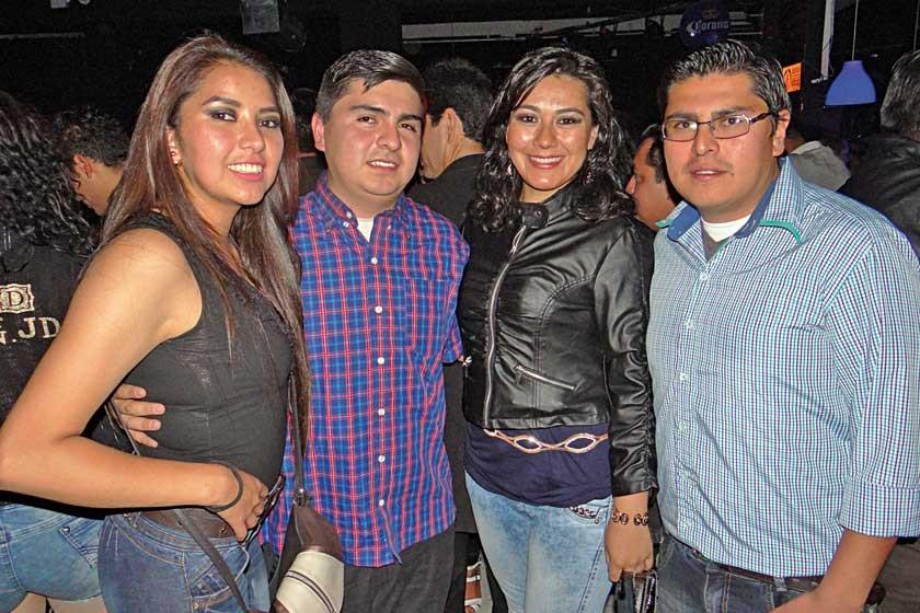 Noelia Coca, Alencar Nava, Evelin Manzano y Fernando Nava.