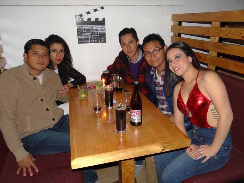 Rolando, Angelica, Daniel, Mauri e Ingrid.